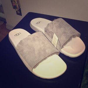 Men's UGG Sandals Slides In Gray Size 13